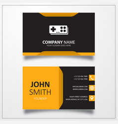 Game icon business card template vector