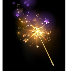 Golden Magic Wand vector