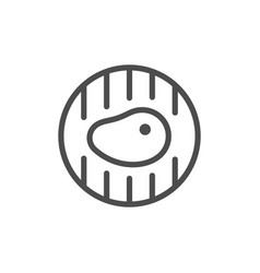 grill line outline modern icon vector image
