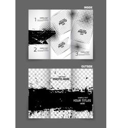 Grunge tri fold brochure vector image