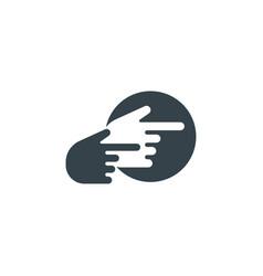 hand cursor concept logotype template design vector image