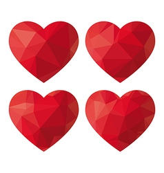 Heart Polygon vector image