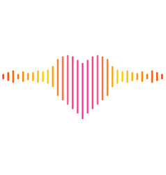 Heart shaped music equalizer vector