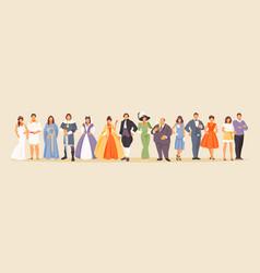 history of fashion vector image