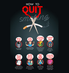 How to quit smoking infographic vector
