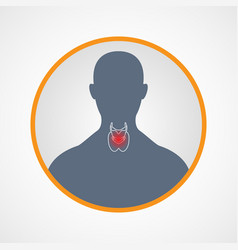 Hypothyroidism logo icon design vector