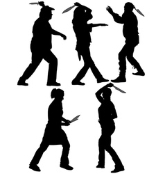 Knife Thrower Silhouette vector
