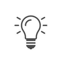 Light bulb and idea concept icon vector