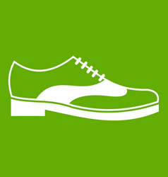 men shoe with lace icon green vector image
