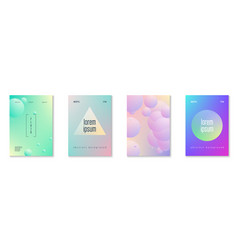 minimal shapes cover set with holographic fluid vector image