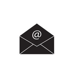 open mail solid icon representing email envelope vector image