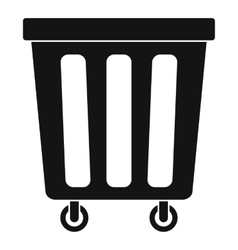 Outdoor plastic trash can icon simple style vector