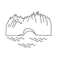 Perito moreno glacier icon outline style vector