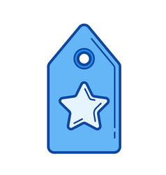 price tag line icon vector image