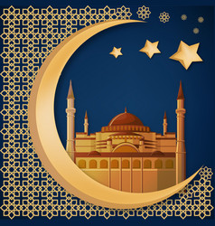 Ramadan kareem abstract background template with vector