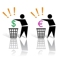 recycling signs and money vector image