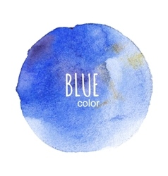 round watercolor stain vector image