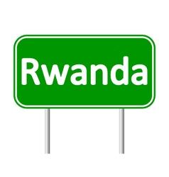 Rwanda road sign vector