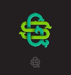 S g monogram vector