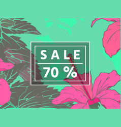 sale up to 70 per cent off web banner or poster vector image