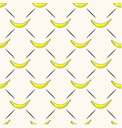 seamless geometric pattern with bananas and vector image