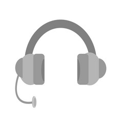 simple headset device vector image