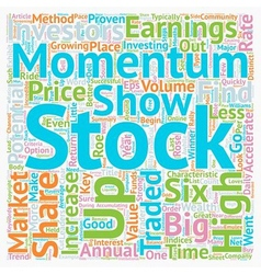 Six Keys to Find Momentum Stocks text background vector image