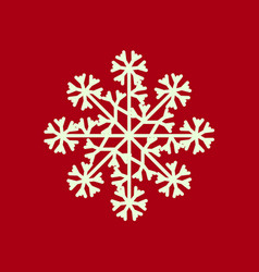 Snowflake isolated icon and sign design on red vector