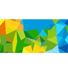 Summer background Polygonal colorful brazilian vector