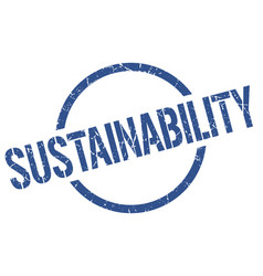 Sustainability stamp vector
