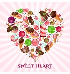Sweet heart poster for sweet shop vector