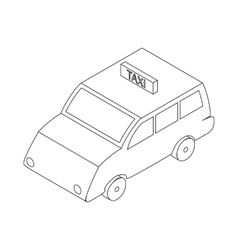 Taxi car icon isometric 3d style vector