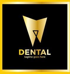 teeth line logo vector image