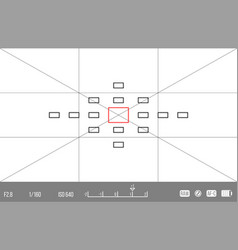 Template for your design camera viewfinder vector