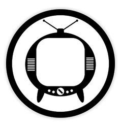 TV button on white vector