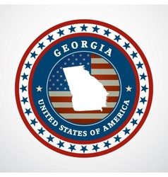 Vintage label Georgia vector image