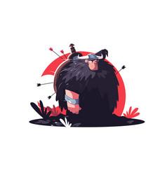 warrior with arrows vector image