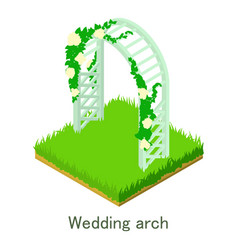 Wedding arch icon isometric style vector