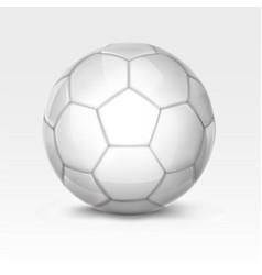 white soccer ball vector image