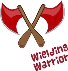 Wielding Warrior vector