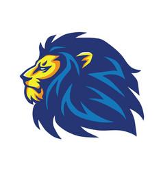 Wild lion mascot logo design vector