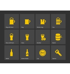 Beer icons vector image vector image