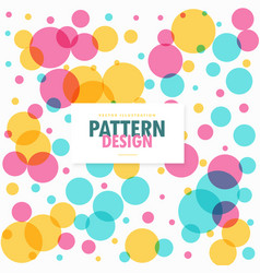 colorful circles dots pattern background vector image