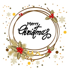 decorative christmas postcard vector image vector image