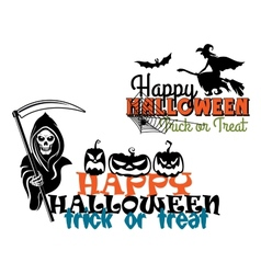 Eeerie happy halloween posters vector