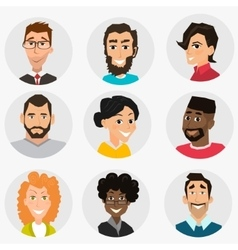 Faces set People avatars collection vector image