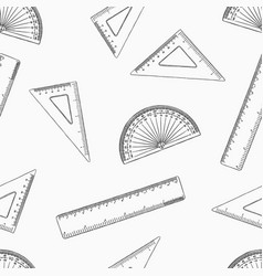 geometry set for mathematics seamless pattern vector image vector image
