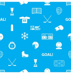 ice hockey sport icons blue and white seamless vector image vector image