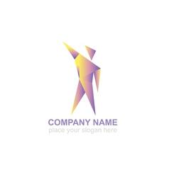 man concept logo design template vector image