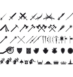 medieval weapons vector image vector image